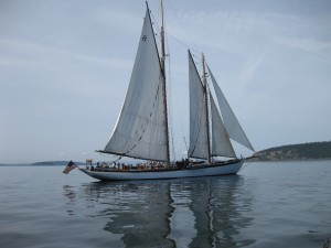 Schooner Zodiac on a Calm Day