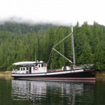 David B at Anchor in the Inside Passage
