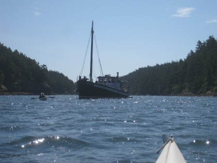 Kayaking from the m/v David B at Sucia Island in the San Juan Islands