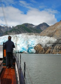 The motor vessel david b at sawyer glacier