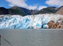 Sawyer Glacier in Alaska from a cruise on the small cruise ship david b