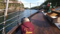 Cruising through Von Donop inlet on the David B