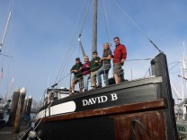 Crew and passengers on the David B