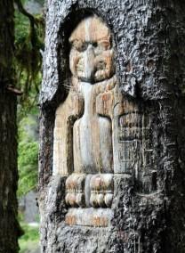 Tree Carving in Glacier Bay