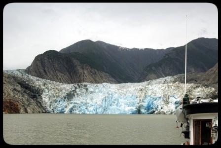 David B at North Sawyer Glacier in Alaska