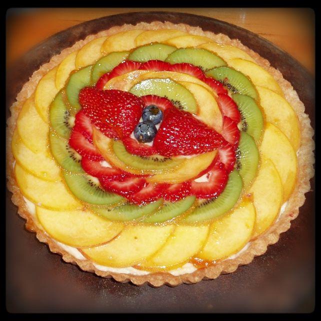 Fruit Tart for desert on small ship cruise