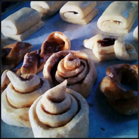 Croissant dough cinnamon rolls