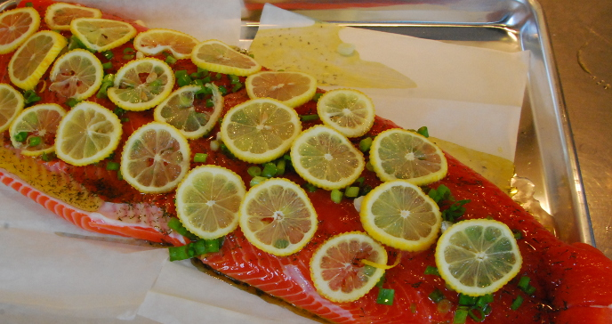 Salmon ready to cook