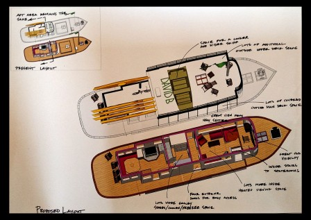 Prposed layout for David B Pilothouse Rebuild
