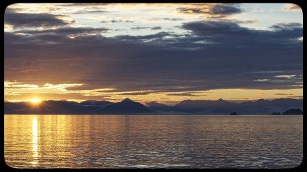 Sunset on an Alaska Small Ship Cruise