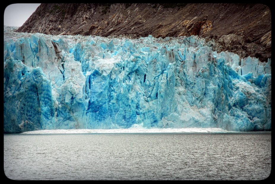 Wave from a crashing iceberg - Alaska small boat cruise in Endicott Arm and Dawes Glacier