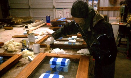 Winter Projects on the Chart Boat David B