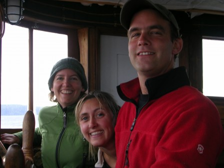 Captain Jeffrey with Chrisitne and his sister Cynthia