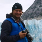 Josh at Dawes Glacier