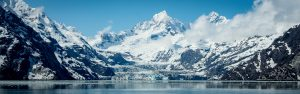 View of Johns Hopkins Inlet in Alaska's Glacier Bay