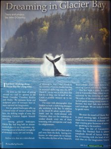 Article in Adventreus NW Magazine about our Glacier Bay Photography Workshop