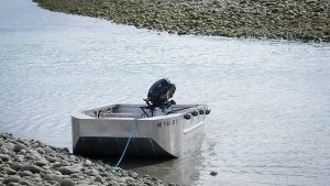 Tender boat to the small cruise ship David B