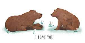Bears in love t shirt design